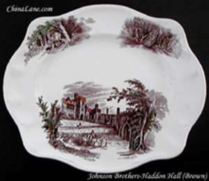 Picture of Johnson Brothers - Haddon Hall ~ Brown - Oval Bowl