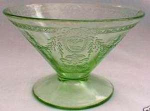 Picture of Hocking Glass - Princess ~ Green - Sugar Bowl