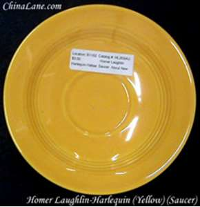 Picture of Homer Laughlin - Harlequin ~ Yellow - Saucer