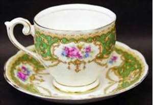 Picture of Queen Anne - Regency (Green) - Cup and Saucer