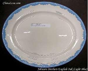 Picture of Johnson Brothers - English Oak ~ Light Blue - Platter