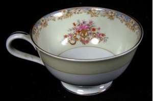 Picture of Noritake - Mystery 114 (Blue) - Cup and Saucer