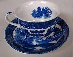 Picture of Japan China - Blue Willow - Cup ad Saucer