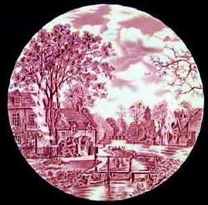 Picture of Johnson Brothers - Cotswold ~ Pink - Dinner Plate