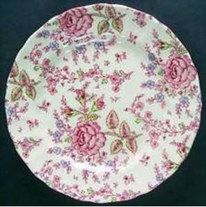 Picture of Johnson Brothers - Rose Chintz ~ Pink - Dessert Bowl