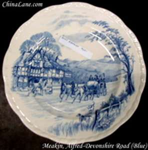 Picture of Meakin, Alfred - Devonshire Road ~ Blue - Dinner Plate