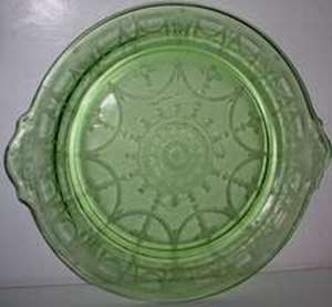 Picture of Hocking Glass - Cameo ~ Green - Luncheon Plate