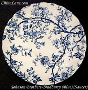 Picture of Johnson Brothers - Bradbury ~ Blue - Cup and Saucer