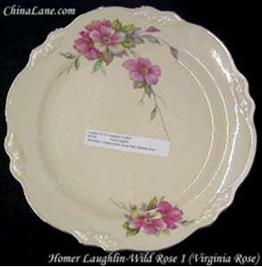 Picture of Homer Laughlin - Wild Rose 1 (Virginia Rose) - Dinner Plate