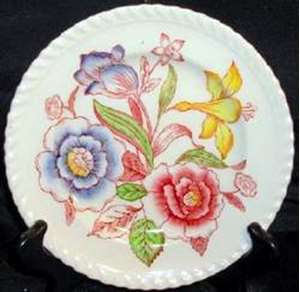 Picture of Johnson Brothers - English Bouquet (Roped Edge) - Dinner Plate