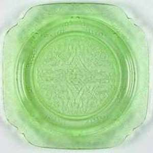 Picture of Federal Glass - Madrid ~ Green - Sherbert Plate