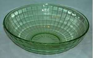 Picture of Hocking Glass - Block Optic ~ Green - Luncheon Plate