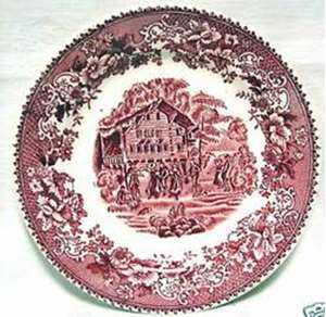 Picture of Hughes - Avon Cottage ~ Pink - Dinner Plate