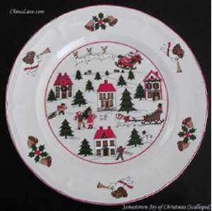 Picture of Jamestown - Joy of Christmas ~ Scalloped - Dinner Plate