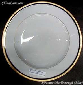 Picture of Syracuse - Marlborough Blue  - Dinner Plate