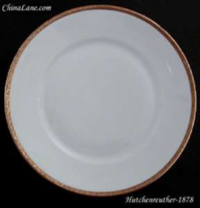 Picture of Hutschenreuther - 1878 ~ White with gold trim - Covered Bowl