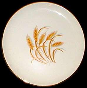 Picture of Homer Laughlin - Golden Wheat ~ Gold Trim - Dessert Bowl
