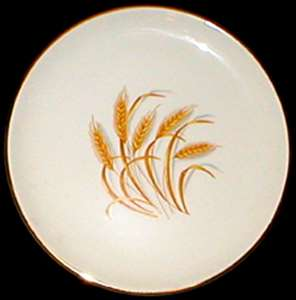 Picture of Homer Laughlin - Golden Wheat ~ Gold Trim - Luncheon Plate