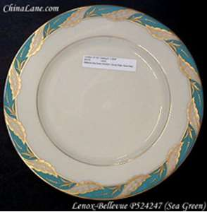 Picture of Lenox - Bellevue ~ Sea Green P524247 - Bread Plate