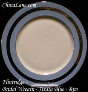 Picture of Flintridge - Bridal Wreath ~ Strata Blue - Saucer