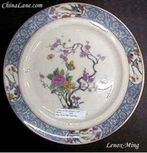 Picture of Lenox - Ming ~ Birds (Older)Blk/Gr Backstamp - Bread Plate