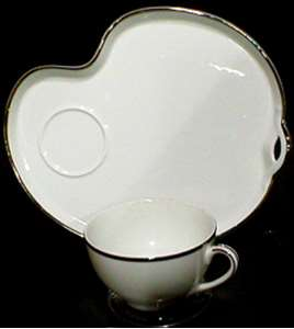 Picture of Noritake - Silverdale 5594 - Snack Plate and Cup