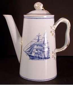 Spode - Trade Winds ~ Blue W146 - Coffee Pot China - Spode - Trade ...