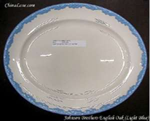 Picture of Johnson Brothers - English Oak ~ Light Blue - Dinner Plate