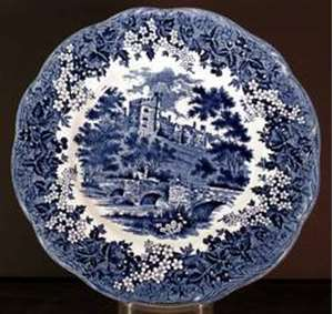 Picture of Meakin, J.G. - Romantic England ~ Blue - Dessert Plate