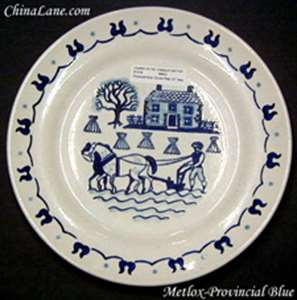 Picture of Metlox - Provincial Blue - Covered Bowl Lid