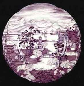 Picture of Johnson Brothers - Enchanted Garden~Plum - Saucer