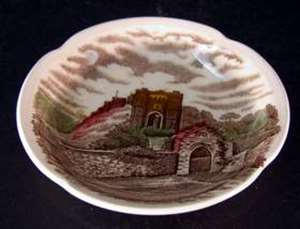 Picture of Johnson Brothers - Old Britain Castles ~ Brown Multicolor - Butter Pat