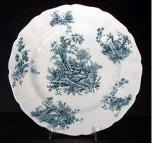 Picture of Johnson Brothers - Pastorale Toile de Jouy ~ Green - Dinner Plate