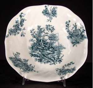 Picture of Johnson Brothers - Pastorale Toile de Jouy ~ Green - Soup Bowl