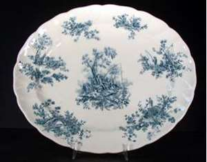 Picture of Johnson Brothers - Pastorale Toile de Jouy ~ Green - Platter