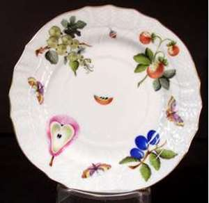 Picture of Herend - Fruits and Flowers - Bread Plate