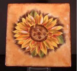 Picture of Clay Art - Tuscan Sunflower - Salad Plate