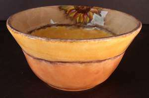 Picture of Clay Art - Tuscan Sunflower - Soup/Cereal Bowl
