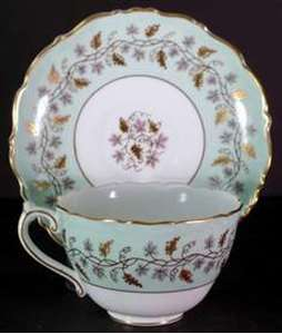 Picture of Coalport - Minerva~Green 9726/B - Cup and Saucer