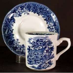 Picture of Meakin, J.G. - Romantic England ~ Blue - Cup and Saucer