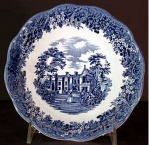 Picture of Meakin, J.G. - Romantic England ~ Blue - Cereal Bowl