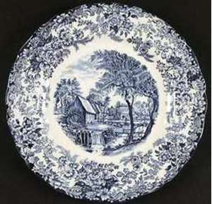 Picture of Johnson Brothers - Millstream~Blue - Dinner Plate