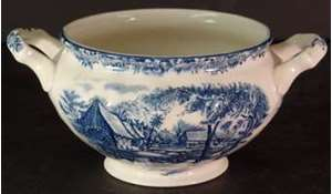 Picture of Johnson Brothers - Millstream~Blue - Sugar Bowl