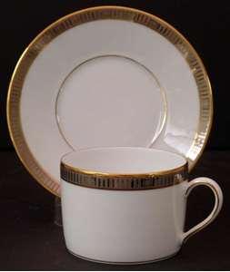 Picture of Bernardaud - Madison~Platinum - Cup and Saucer
