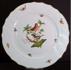 Picture of Herend - Rothschild Bird RO - Dinner Plate