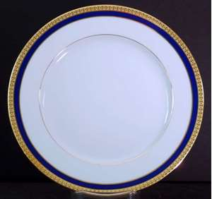Picture of Haviland - Symphonie~Blue and Gold - Dinner Plate